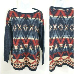 Chaps Western Southwest Boxy Pullover Sweater